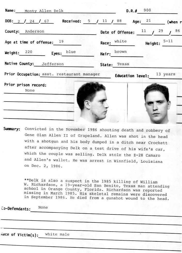 monty allen delk murderpedia  encyclopedia  murderers