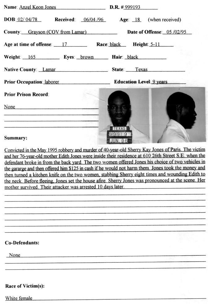 Anzel Keon Jones | Murderpedia, the encyclopedia of murderers