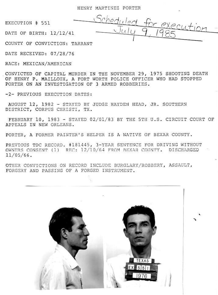 Henry Martinez Porter | Murderpedia, the encyclopedia of murderers